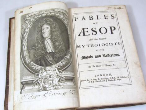 L'Estrange (Sir Roger) Fables of Aesop and other eminent mythologists...FIRST EDITION engraved portr