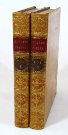 Binding.- Aufrere (Anthony) The Lockhart Papers 2 vol.