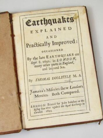 Doolittle (Thomas) Earthquakes Explained and Practically Improved… contemporary sprinkled calf