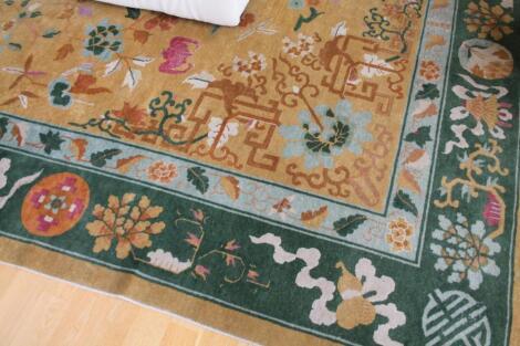 A hand cut Chinese carpet