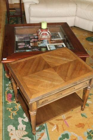 Two coffee tables.