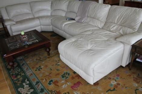 An extensive lounge suite
