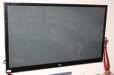 "An LG 47"" flatscreen television."