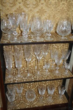 A suite of table crystal
