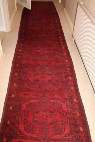 A Kazakh carpet runner