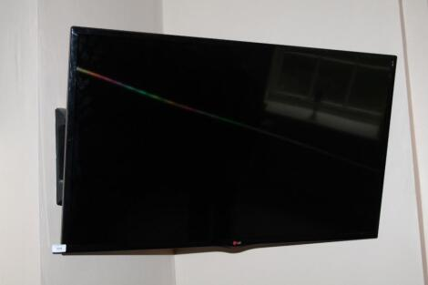 "An LG 46"" flatscreen television."