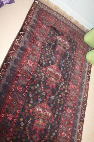 A Persian design rug