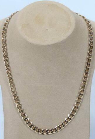 A heavy curb link neck chain