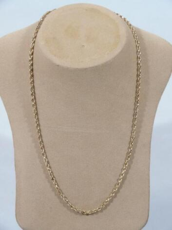 A 9ct gold twisted link neck chain