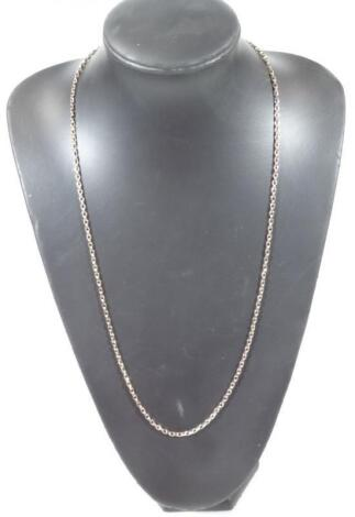 A 9ct gold curb link chain with swivel fastening