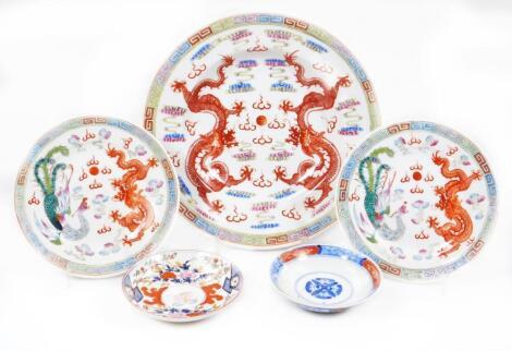 Various oriental porcelain plates