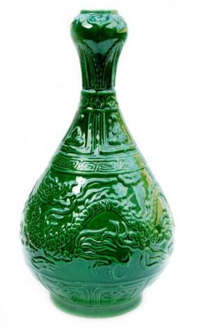 A large Chinese pottery Ming style vase