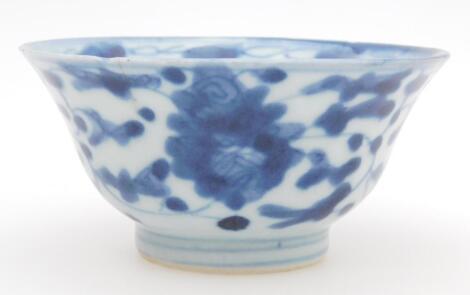 A Chinese porcelain tea bowl