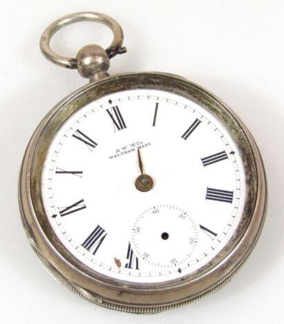 An Edwardian silver open faced pocket watch