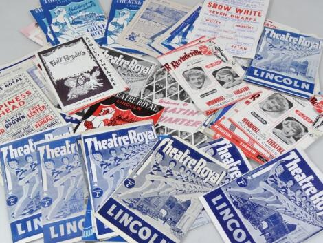 Various Lincoln Theatre Royal and other ephemera and programmes
