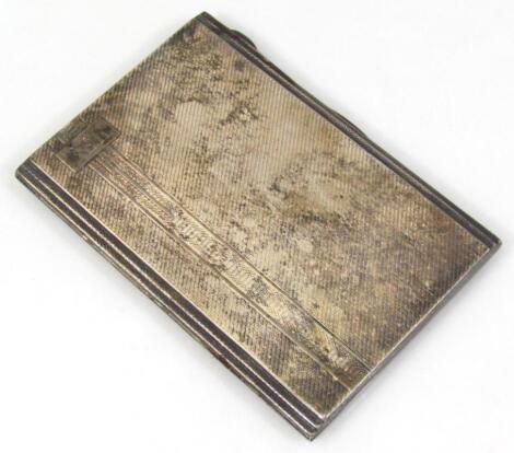 A George VI silver cigarette case
