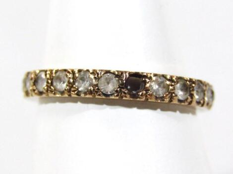 A 9ct gold eternity ring