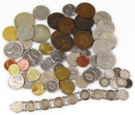 A quantity of decimal and pre-decimal coinage