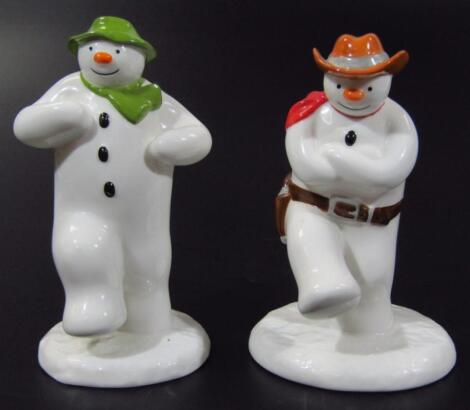 Two Coalport Characters The Snowman figures