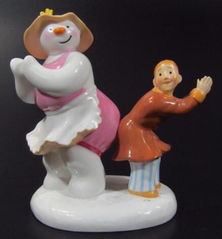 A Coalport Characters The Snowman figure