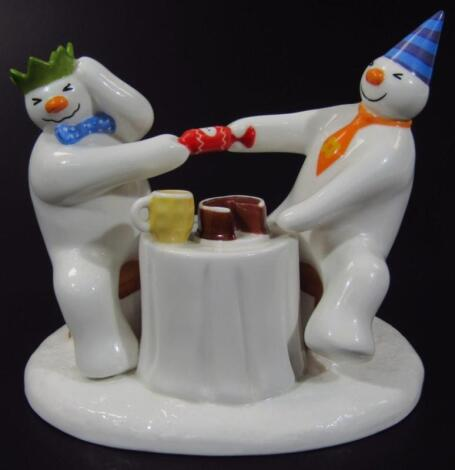 A Coalport Characters The Snowman figure group