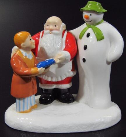 A Coalport Characters The Snowman And Father Christmas Collectors Choice Special Edition figure grou
