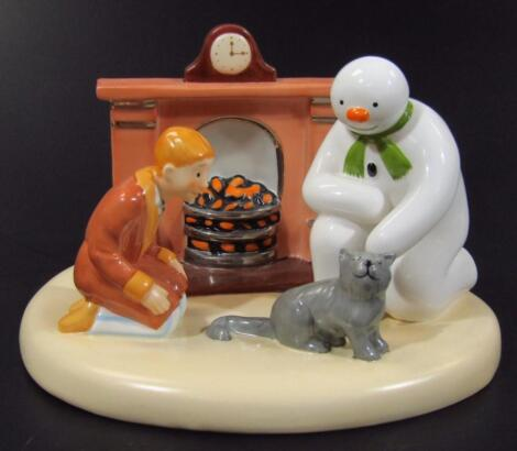 A Coalport Classics The Snowman figure group