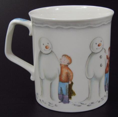 A Royal Doulton The Snowman Gift Collection Building The Snowman mug