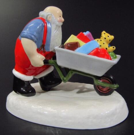 A Coalport Characters Father Christmas figure group