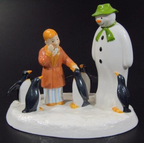 A Coalport Characters Snowman figure group