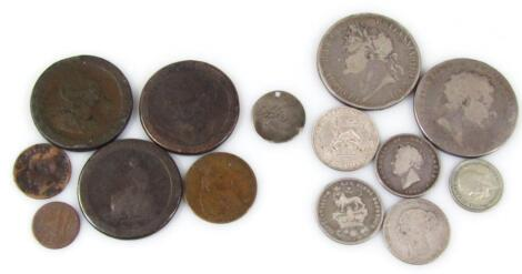 Various coins George III and later