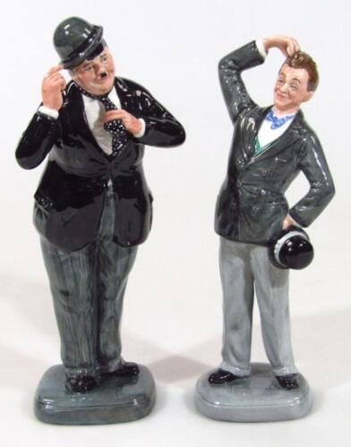 A Royal Doulton figure Stan Laurel and Oliver Hardy