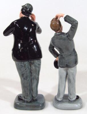 A Royal Doulton figure Stan Laurel and Oliver Hardy - 2