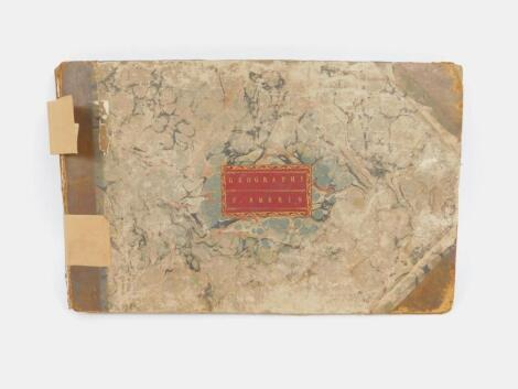 Atlas.- A manuscript atlas bearing the name F. Emeris to label entirely written in copper plate hand