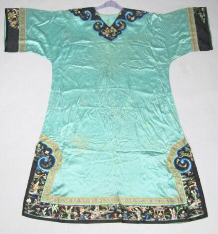 An early 20thC rinzu style silk robe