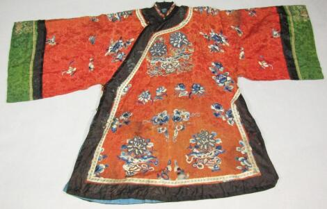 A 19thC Chinese silk court robe