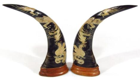 A pair of imitation horns