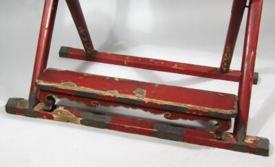A Chinese Qing period hardwood folding chair - 5