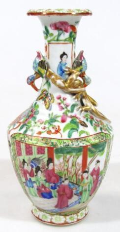 A late 19thC Cantonese famille rose porcelain vase