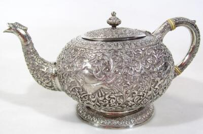 An early 20thC Indian five piece tea service - 19