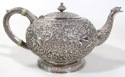 An early 20thC Indian five piece tea service - 20