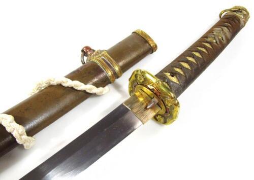 A Japanese officer's Samurai sword