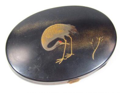 A Japanese Meiji period Komai bronze powder box