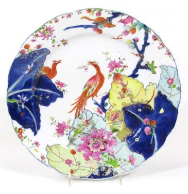 An 18thC Chinese porcelain plate