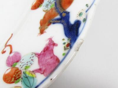 An 18thC Chinese porcelain plate - 4