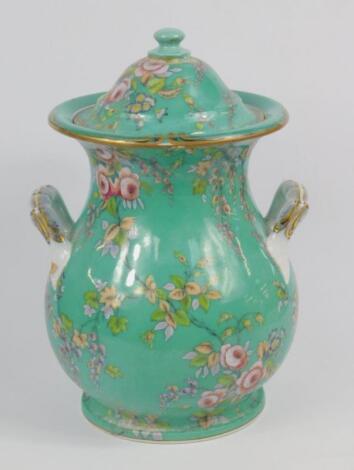 A Mintons mid 19thC pottery rumtopf