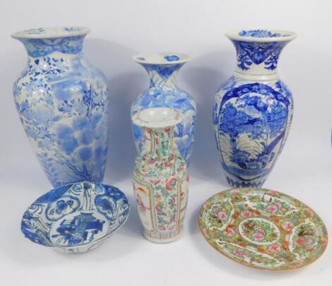 A Cantonese famille rose porcelain vase