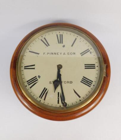 A Victorian mahogany circular cased wall clock
