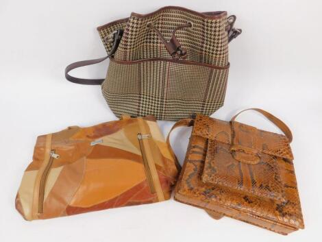 A Ralph Lauren tweed shoulder bag