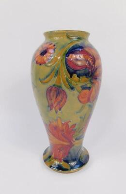 A Moorcroft early 20thC baluster vase